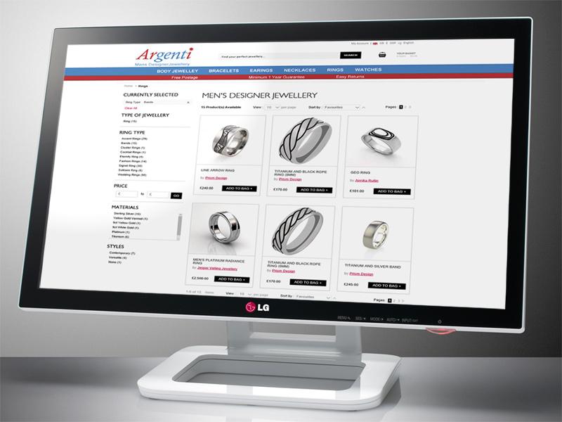 Argenti Ecommerce Web Site Designed by InForm Web Design