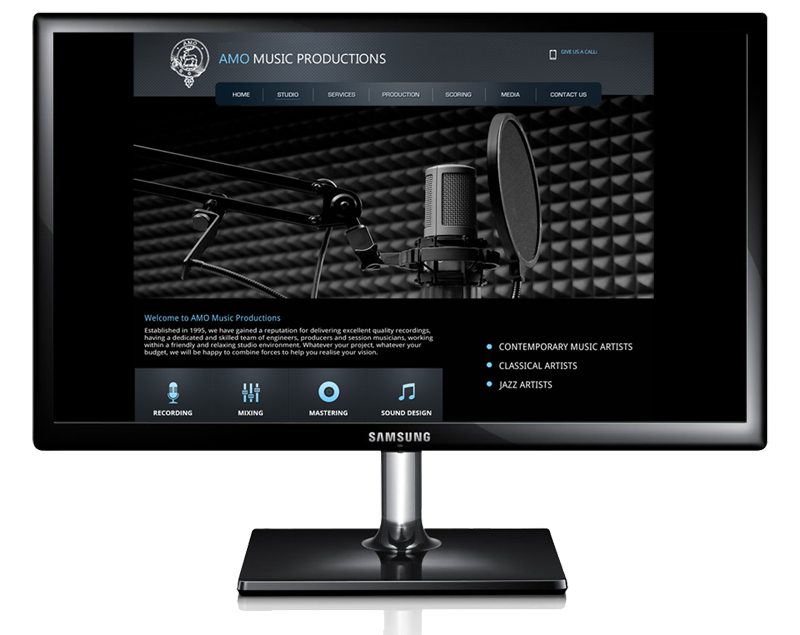 AMO Music Productions Website by InForm Web Design