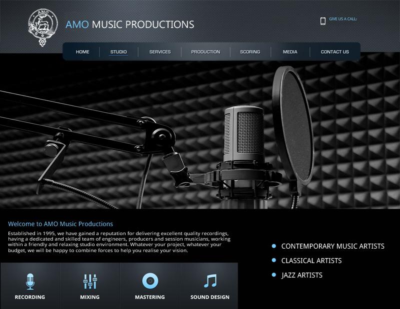 AMO Music Productions Web Site by InForm Web Design