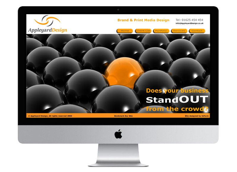 Appleyard Design Web Site developed by InForm Web Design