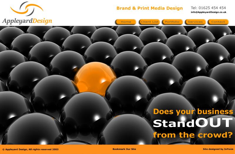 Appleyard Design Website developed by InForm Web Design