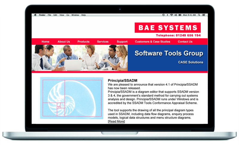 BAE Systems Website developed by InForm Web Design