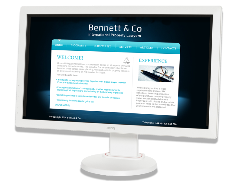 Bennett & Co Solicitors Web Site designed by InForm Web Design