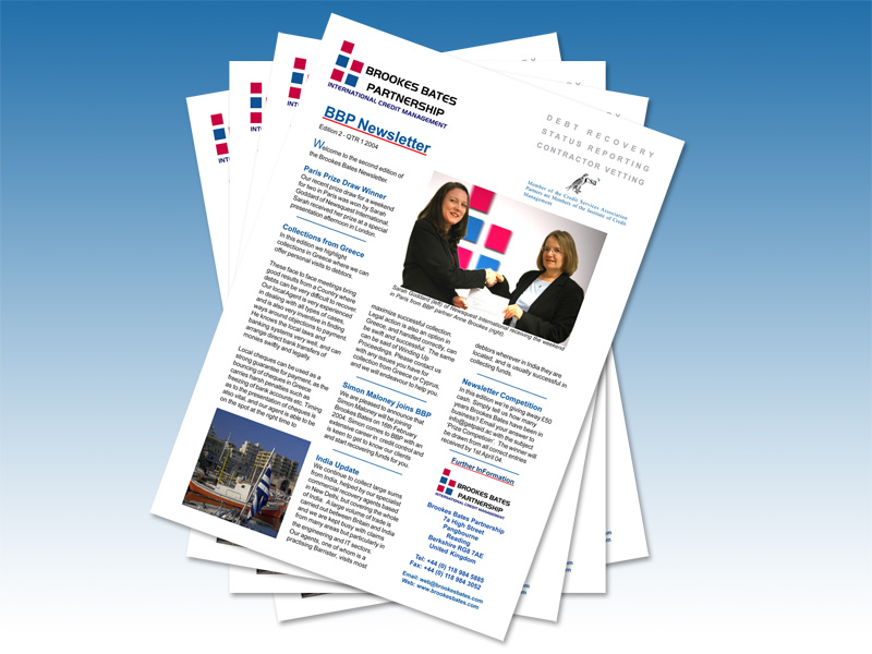Brookes Bates Partnership - Printed Newsletter & E-Newsletter - InForm Web Design