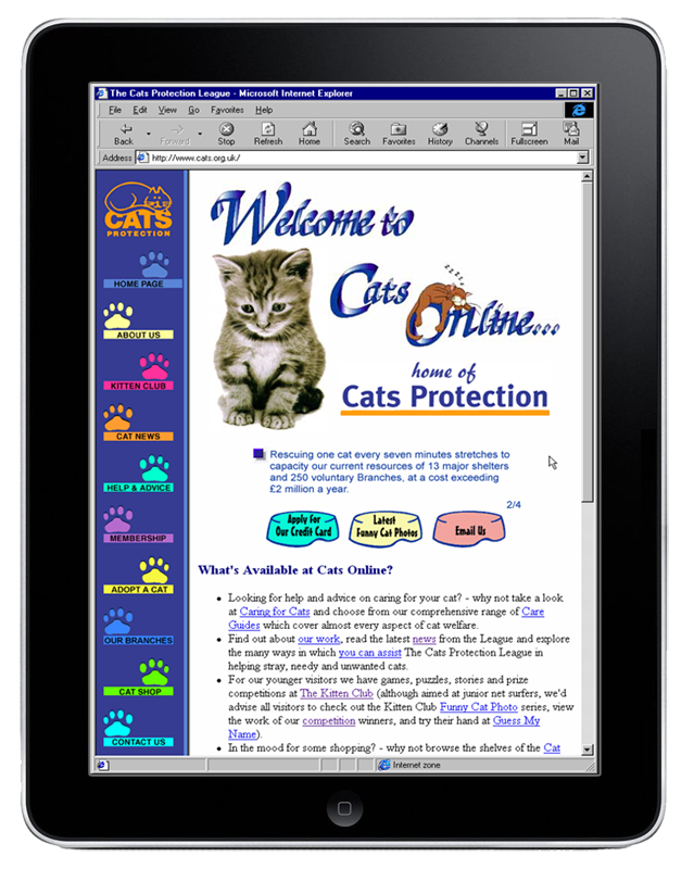 Cats Protection Web Site designed and developed by InForm Web Design