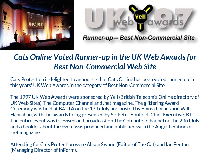 Cats Protection Web Site by InForm Web Design