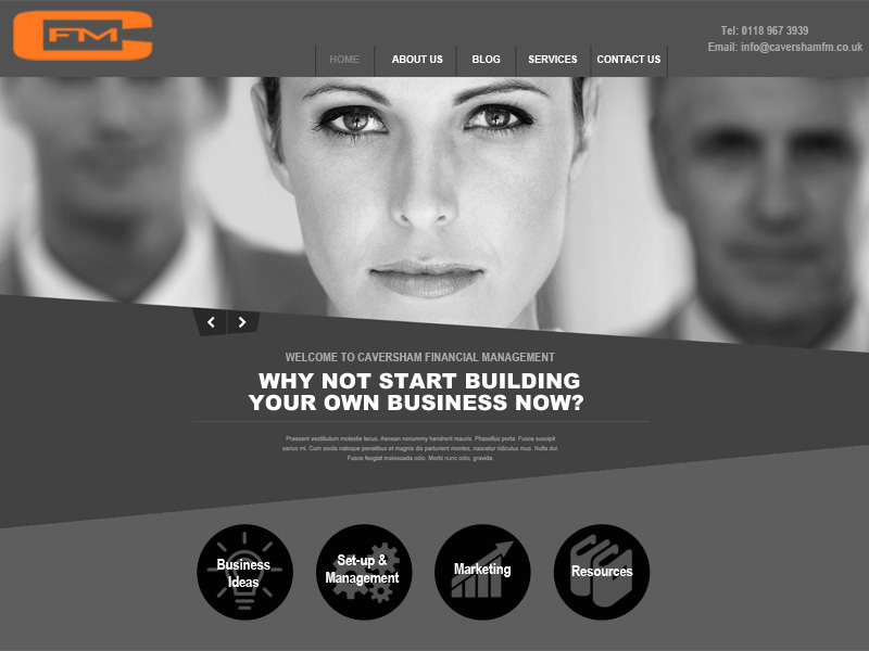 Caversham Financial Management (CFM) Web Site crafted by InForm Web Design