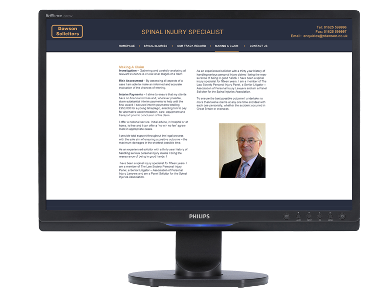 Dawson Solicitors Web Site designed, developed & supported by InForm Web Design