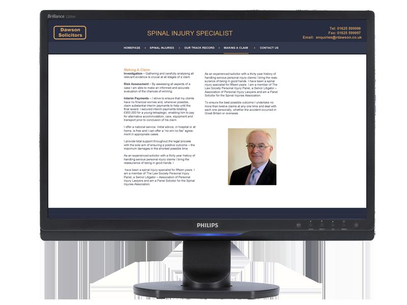 Dawson Solicitors Web Site designed by InForm Web Design