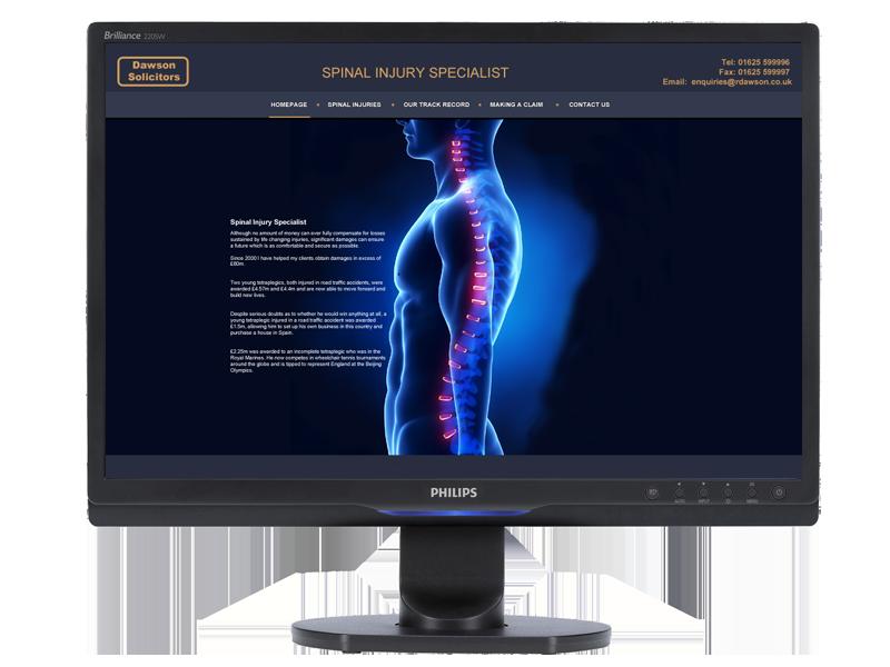 Dawson Solicitors Website developed by InForm Web Design