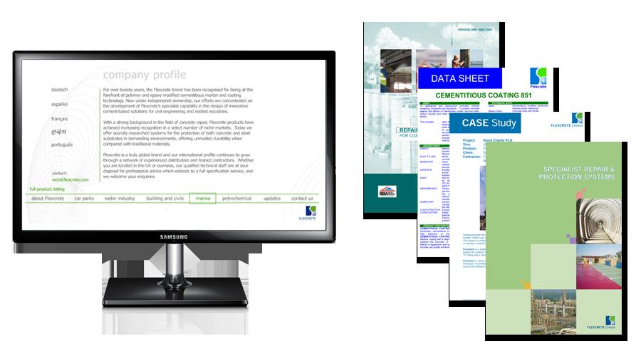 Flexcrete Technologies Limited - Flexcrete's website & marketing materials before the involvement of InForm Web Design