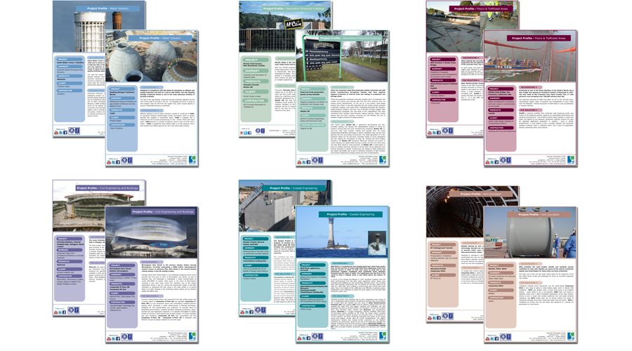 Flexcrete Technologies Limited - Colour coded Project Profiles - InForm Web Design