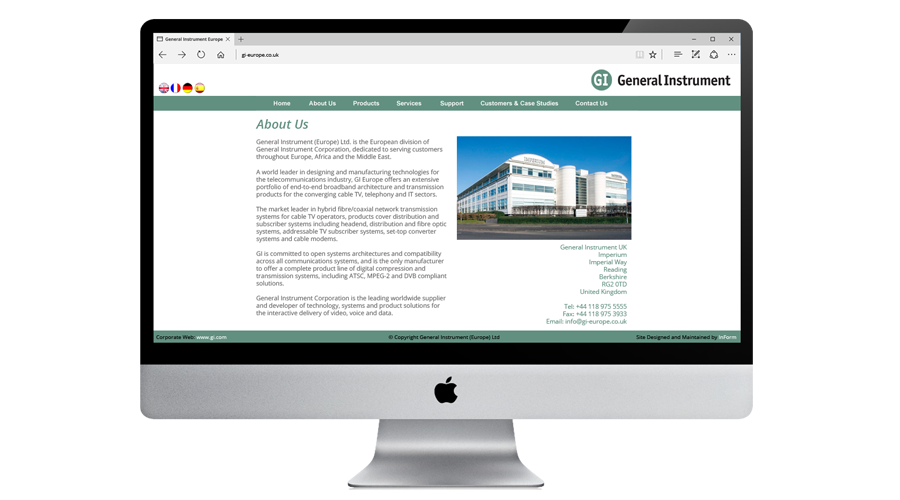 General Instrument Europe (GI) Web Site by InForm Web Design