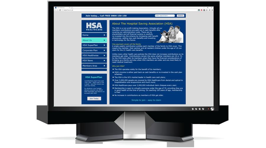 The Hospital Saving Association (HSA) Web Site by InForm Web Design
