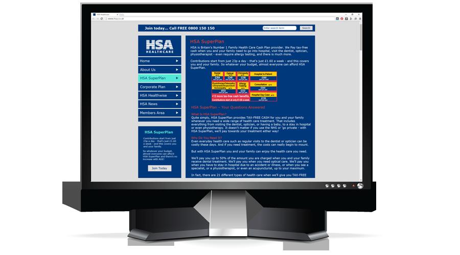 The Hospital Saving Association (HSA) Website by InForm Web Design