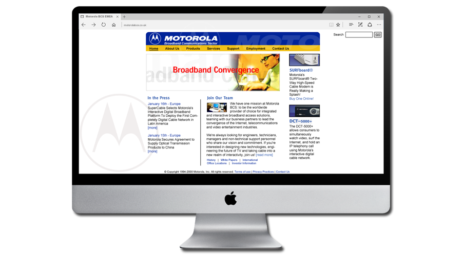 Motorola Broadband Communications Sector EMEA Website by InForm Web Design