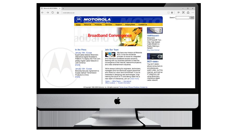 Motorola Broadband Communications Sector EMEA Website by InForm Web Design