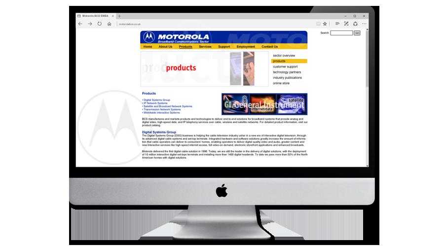 Motorola BCS Europe Website designed and developed by InForm Web Design
