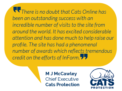 Cats Protection Testimonial for InForm Web Design