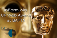 InForm Web Design win UK Web Award at BAFTA